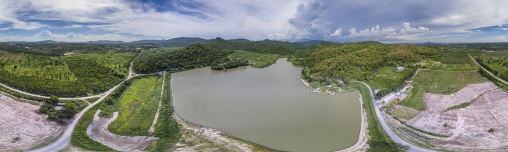 Phantom DJI-4 panorama at Pong Dindam