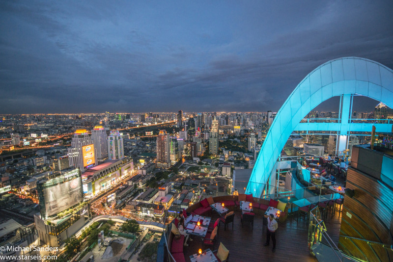 View from the Red Sky Bar at Central World